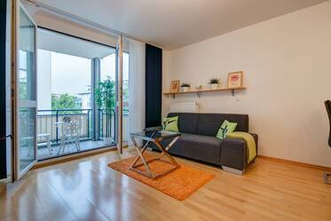 Munich-Obersenling, near U-Bahn U3: Beautifully furnished 2-room apartment with large balcony, internet