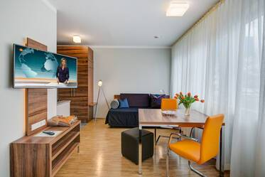 Modern 1-room apartment with free parking space in Ismaning