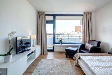 Beautifully furnished studio apartment with balcony and great view