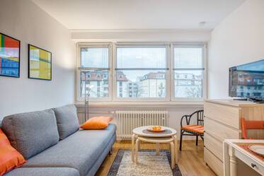 Quiet, furnished 1-room apartment in Isarvorstadt